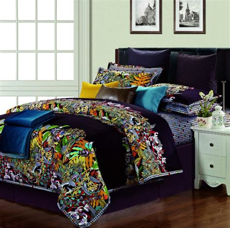 egyptian cotton silk satin colorful comforter bedding set