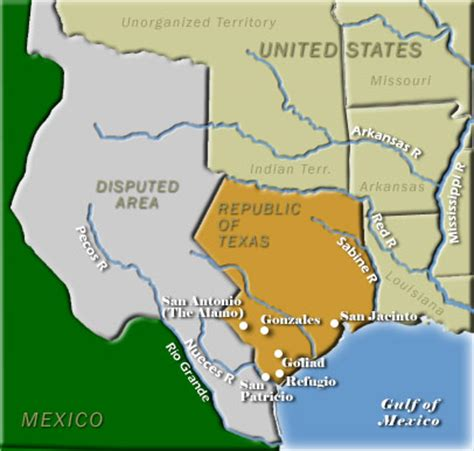map of texas revolution texas independence map