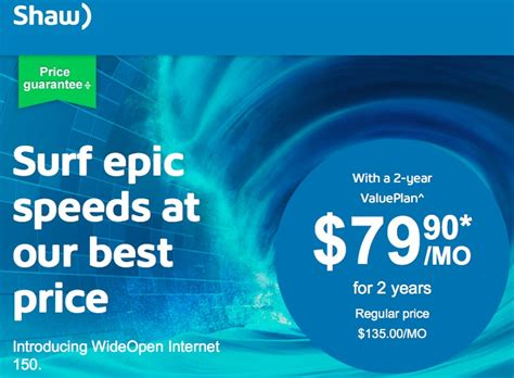 shaw new year promotion shaw wideopen launches 150mbps for 79 90 on