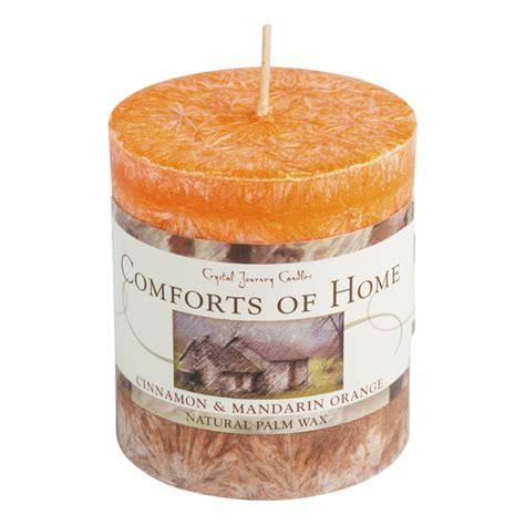 comforts of home comforts of home aromatherapy pillar candle mystery arts