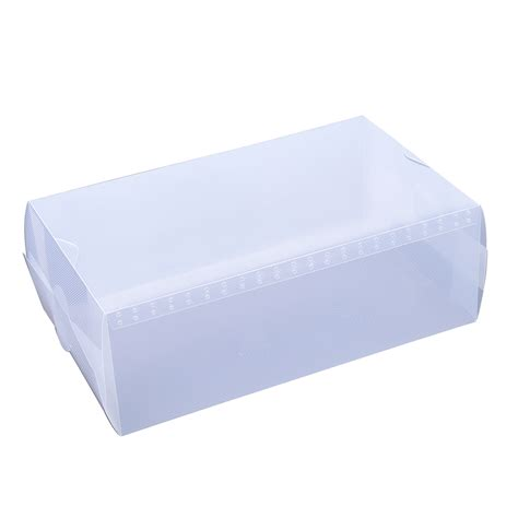 clear storage boxes for shoes 5 x clear plastic mens shoe storage boxes containers