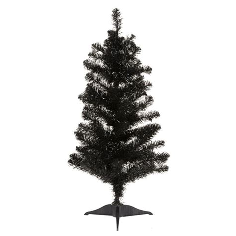 3ft black christmas tree contemporary christmas trees