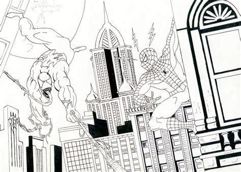imagenes a blanco y negro de spiderman spiderman vs venom para colorear imagui