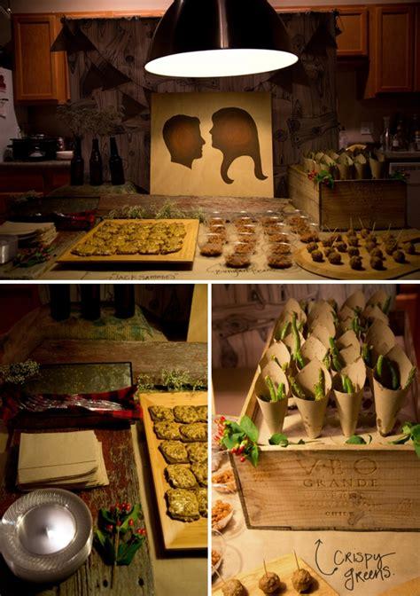 lumberjack themed coed wedding shower - Coed Bridal Shower Themes