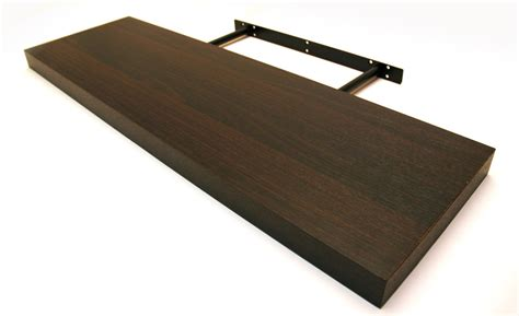 new wall floating shelf kit black walnut oak strong high