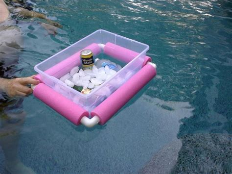 diy floating cooler floating cooler just cut up a pool noodle and get some pvc pipe corners cing picnic