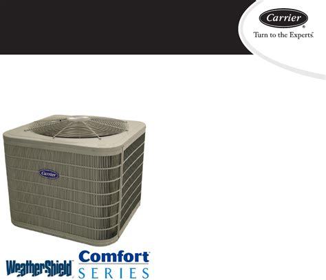 carrier comfort series heat pump carrier heat pump 25hcs3c user guide manualsonline com