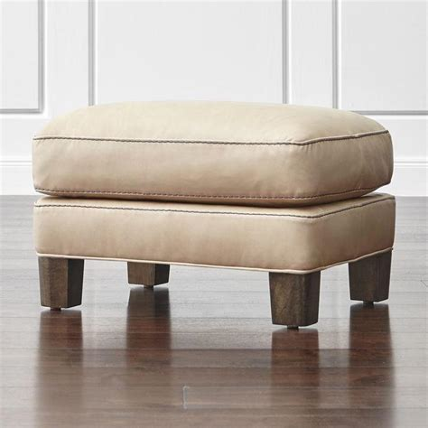 beige leather ottoman beige leather rectangle ottoman
