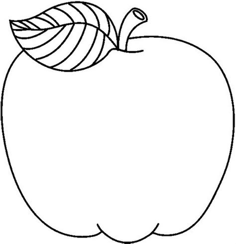 imagenes para colorear manzana image gallery manzana dibujo