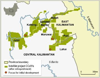 indomet project coal mining  east  central