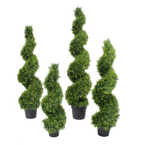 artificial cedar spiral fake spiralled conifer