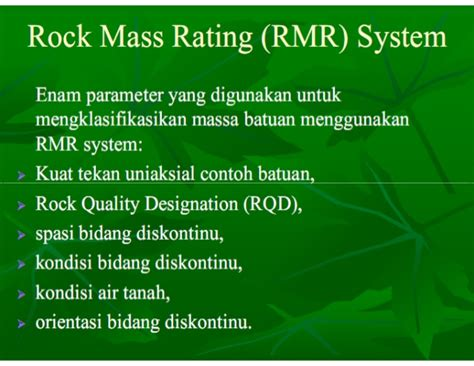 slope mass rating adalah rock mass classification system