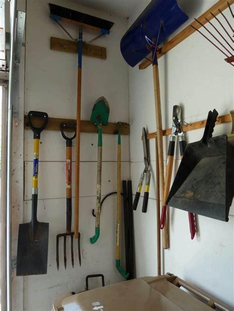 garage tip  solution  organizing large yard tools
