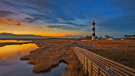 north carolina bodie island lighthouse  bing wallpaper