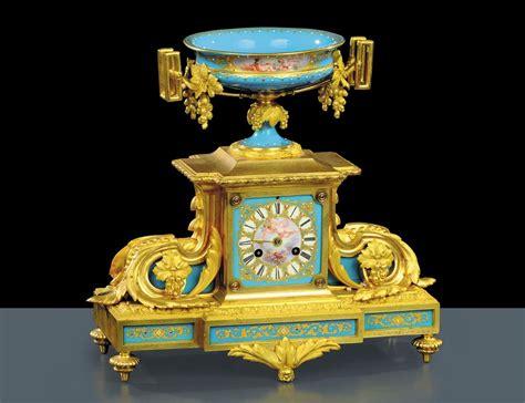 orologi da tavolo francesi orologio da tavolo in bronzo e porcellana turchese