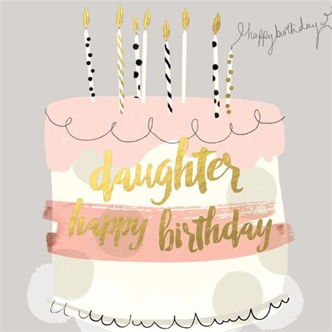 printable happy birthday cards for my daughter beautiful birthday card for daughters featuring a