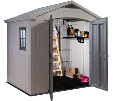 buy keter apex plastic garden shed 8 x 6ft at argos co uk