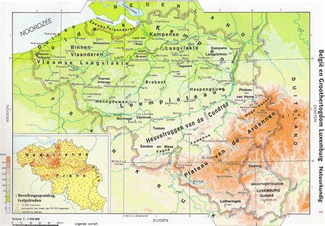 belgium geographical map belgien physik karte