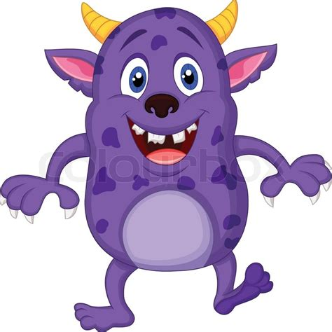 Favorite House Plans by Cute Monster Cartoon Stock Vector Colourbox