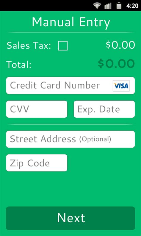 credit card apps for android credit card reader android apps on play