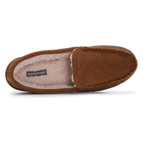 rockport house slippers genuine suede loafer slipper s slippers rockport 174