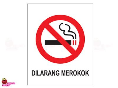 Stiker Tanda Dilarang Masuk silkscreen dilarang merokok magenta manggis