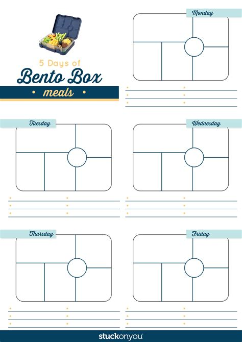 lunch box planner template 100 tasty ideas for your bento box stuck on you