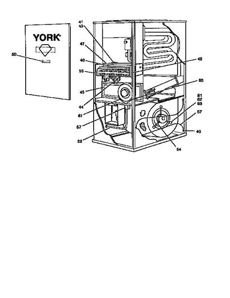 york furnace parts diagram york upflow gas furnace burner orifice parts