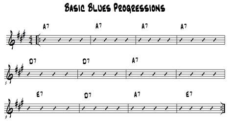 pattern of blues lyrics simple 12 bar blues chord progression in a