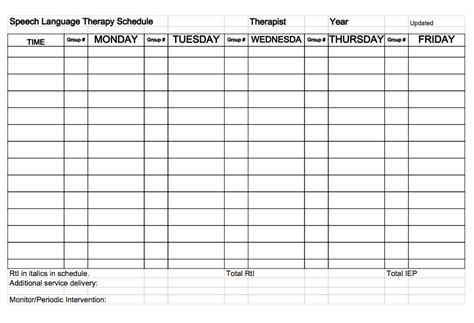 speech therapy templates surviving the week check your to do list