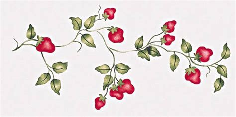 fruit stencils grape cherry peach plum apple