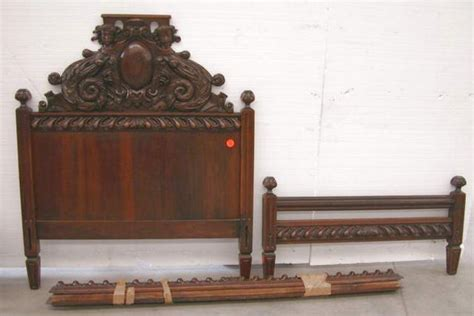 Walnut Bed With Rails For Sale Antiques Com Classifieds Bed Rails For Sale