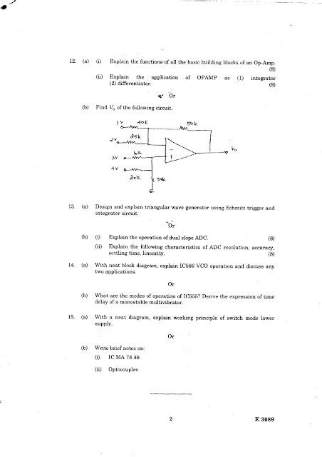 linear integrated circuit question bank question bank linear integrated circuits and applications