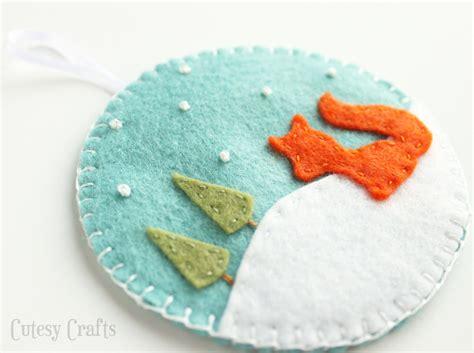 pattern for felt ornaments deer and fox felt christmas ornaments cutesy crafts