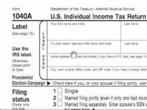 Income Tax Tables How To Complete A 1040a Tax Form Do You Need A 1040a Tax