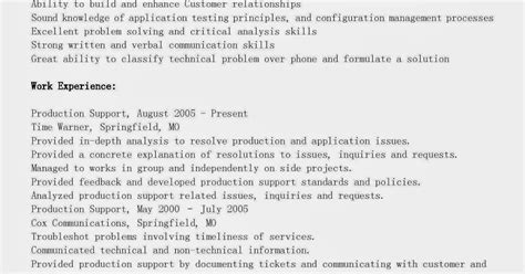 resume sles production support resume sle