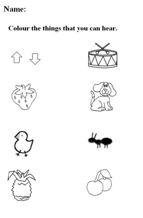 kindergarten activities senses five senses worksheets for kindergarten free
