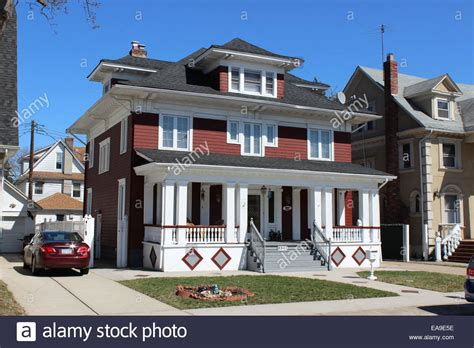 buy house in queens ny colonial revival house richmond hill queens new york stock photo royalty free