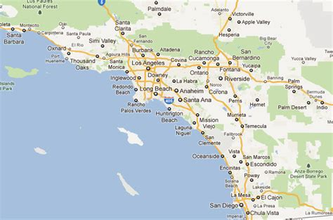 map southern california picture foto car templates fotos map of southern california