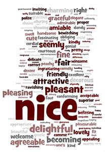 beautiful thesaurus nice and kind the philosophy of nom
