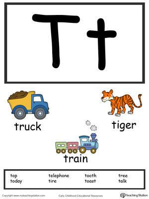 cars beginning with t recognize uppercase and lowercase letter t