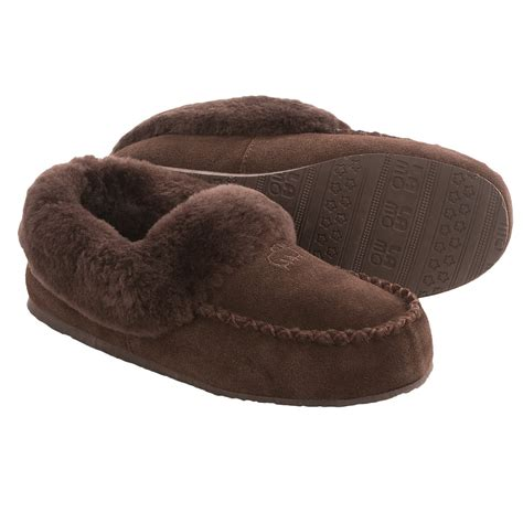 fleece slippers lamo footwear australian bootie slippers for