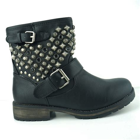 black studded combat boots boot yc