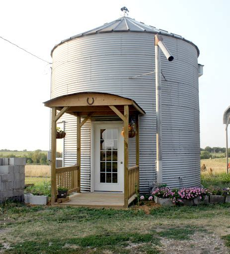 cozy grain bin homes as alternative small housing cozy