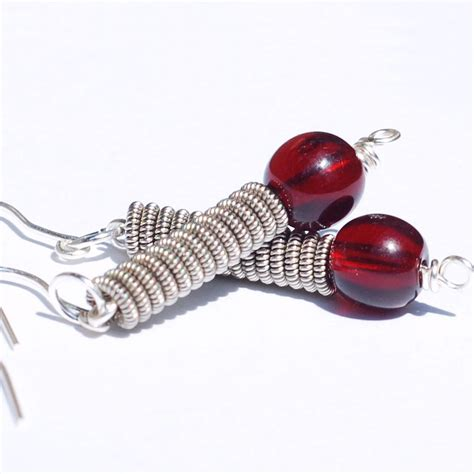 String Earrings - guitar string jewelry by tanith rohe guitar string