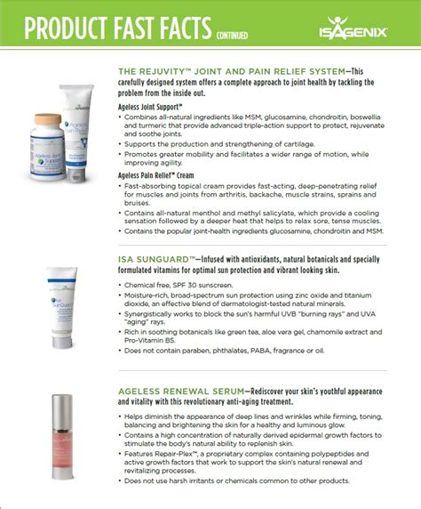 Isa Ageless top 10 ideas about product fast facts isagenix on