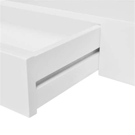 etagere murale tiroir la boutique en ligne etag 232 re murale en mdf blanc avec 1
