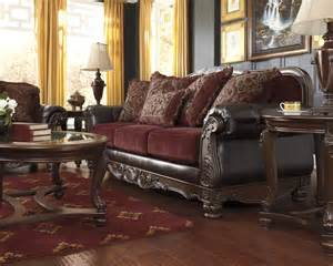 Living Room Ideas Leather And Fabric Raul Sofa Traditional World Burgundy Living Room