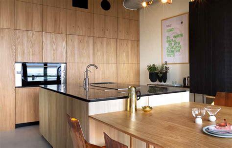cucine legno naturale cucina in legno naturale e cemento a vista ville casali