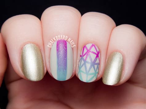 Nail Art Giveaway - nailbox pre fall 14 trendbox geometric gradient nail art